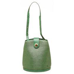 Louis Vuitton Green Epi Leather Cluny Shoulder Bag