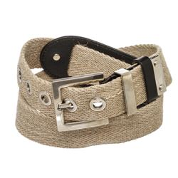Dolce & Gabbana Tan Canvas and Leather Belt