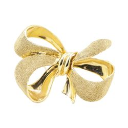 Bow Pin - 14KT Yellow Gold