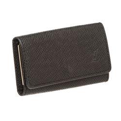 Louis Vuitton Black Taiga Leather 4 Key Holder