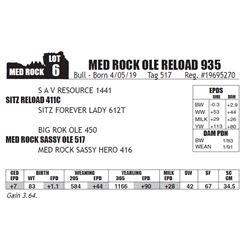 MED ROCK OLE RELOAD 935