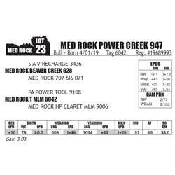 MED ROCK POWER CREEK 947