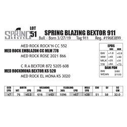 SPRING BLAZING BEXTOR 911