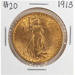 1913 $20 St. Gaudens Double Eagle Gold Coin