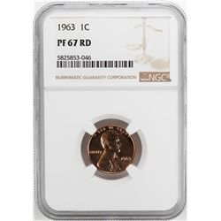 1963 Proof Lincoln Memorial Cent Coin NGC PF67RD
