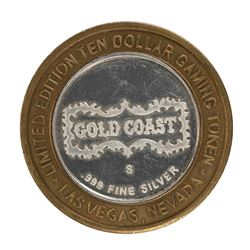 .999 Fine Silver Gold Coast Las Vegas $10 Casino Limited Edition Gaming Token