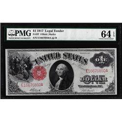 1917 $1 Legal Tender Note Fr.37 PMG Choice Uncirculated 64EPQ