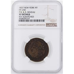 1837 New York, NY Hard Times Token NGC XF Details