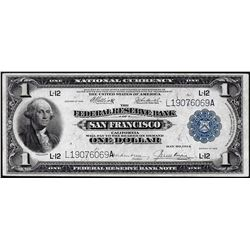 1918 $1 Federal Reserve Bank Note San Francisco