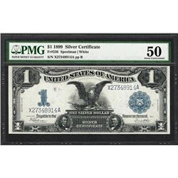 1899 $1 Black Eagle Silver Certificate Note Fr.236 PMG About Uncirculated 50
