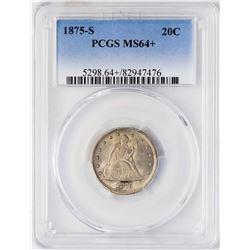 1875-S Twenty Cent Piece Silver Coin PCGS MS64+