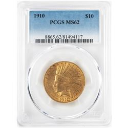 1910 $10 Indian Head Eagle Gold Coin PCGS MS62