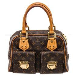 Louis Vuitton Monogram Canvas Leather Manhattan PM Bag