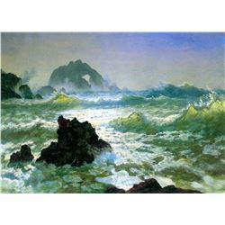 Seal Rock 2 by Albert Bierstadt