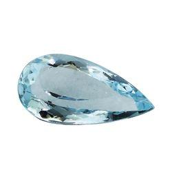 3.13 ct.Natural Pear Cut Aquamarine