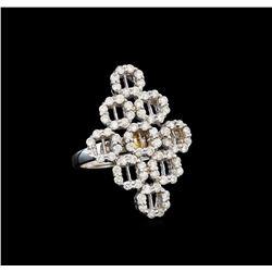 14KT White Gold 0.58 ctw Diamond Ring