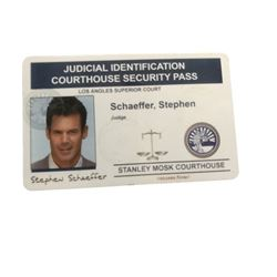 Dexter (Michael C. Hall) Fake ID Prop