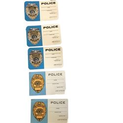 Terminator Police ID Cards Movie Props