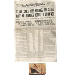 Titanic Newspaper & Postcard Replicas