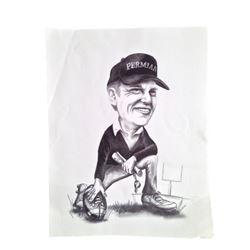 Friday Night Lights Coach Gaines (Billy Bob Thornton) Caricature
