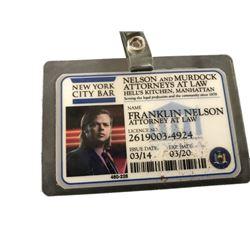 Daredevil TV Franklin Nelson Badge