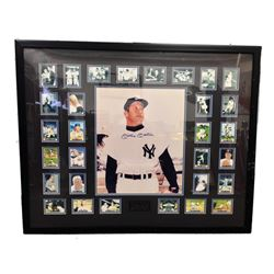 Mickey Mantle Signed Photo with Collector Cards