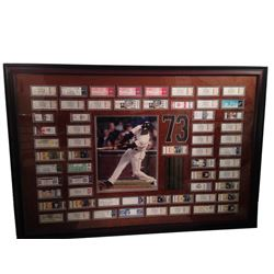 Barry Bonds Signed Photo with 2001 Season Tickets