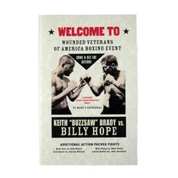 Southpaw Boxing Event Program Movie Props