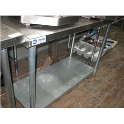 OMCAN NSF 24 X 48 INCH S/S TABLE WITH UNDERSHELF