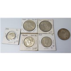 Qty 6 Collectible Coins: 1921, 1926, 1962, 1963 & Loose 1882 Dollar