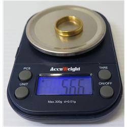 24K Gold Ring 5.66 Grams, Size 6.5