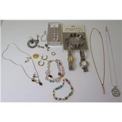Qty 2 Watches, Misc. Bracelets, Earrings, Necklaces w/ Pendants
