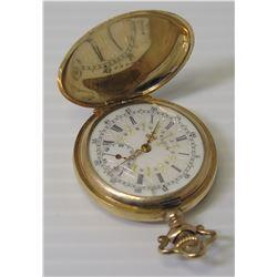 Elgin Round Etched Pocket Watch, 15 Jewels, 8168524