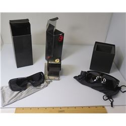 Sabre UV Sunglasses w/ Case, Dragon Sunglasses & Vestal Rosewood RSW001 Watch