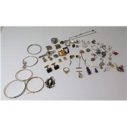 """Misc Jewelry: """"Kuuipo"""" Enameled Hawaiian Bracelet, Misc. Bracelets, Rings, Cuff Links, Earrings, Tie"""