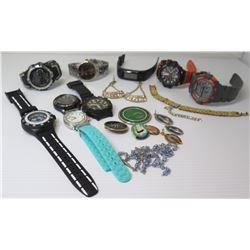 Misc Watches (Swatch, Geneva, Casio, Armitron, Decade) & Misc Pendants, Earrings, Bracelet, etc