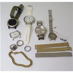 Misc Watches (Marlboro, Garmin Fenix, etc), Watch Bands, Link Bracelet, 3 Rings, etc