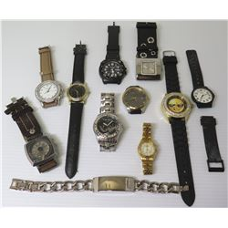 Qty 10 Watches (Diesel, Ashley, Casio, Guess, Marc Ecko, Seiko, etc) & Link Bracelet