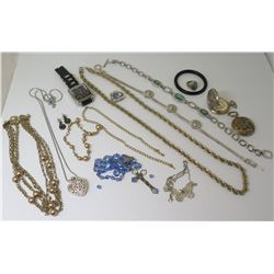 Link Neck Chains, Pocket Watches, Earrings, Heart Pendant, Men's Ring, Watch, etc