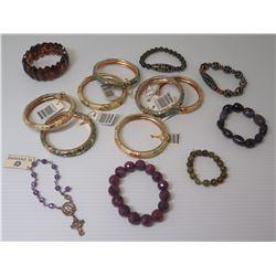Misc Enameled Bracelets, Semi-Precious Stone Bracelets, etc.