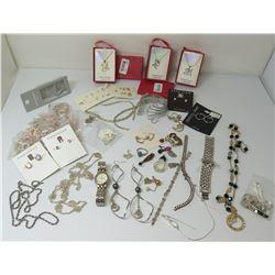 Misc Jewelry: Initials, Pierre Cardin Watch, Anne Klein, Earrings, Bracelets, , etc
