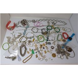 Misc Jewelry: Link Neck Chains, Bracelets, Earrings, Rings, Pendants, etc
