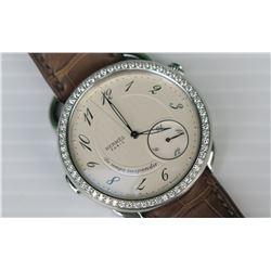 Hermes Arceau Le Temps Suspendu Watch w/62 Diamonds (Retail Price $30,800)