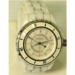 J12 Swiss Made Watch, White, Crystal Slightly Cloudy