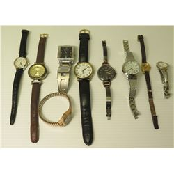 Qty 9 Watches - Armitron, Seiko Solar, Timex, Nine West, Fossil, Mickey Mouse, etc
