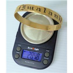 "14K Gold Hawaiian Bracelet Black-Enameled ""Pualani"" 28.48 Grams"