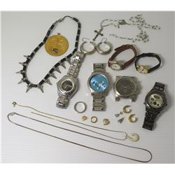 Misc Jewelry - Watches, Neck Chains, Spike Collar Chain, Ring, Earrings, Rosary, etc