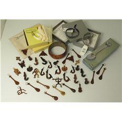 Misc Hawaiian Jewelry - Koa Wood Bracelet, Rhinestone Bracelets, Koa Pendants, Martin & MacArthr Fis