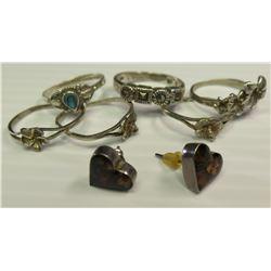 Misc Jewelry - Vintage Rings & Pair of Earrings