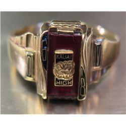 10K Gold Men's 'Kauai High' 1968 Class Ring